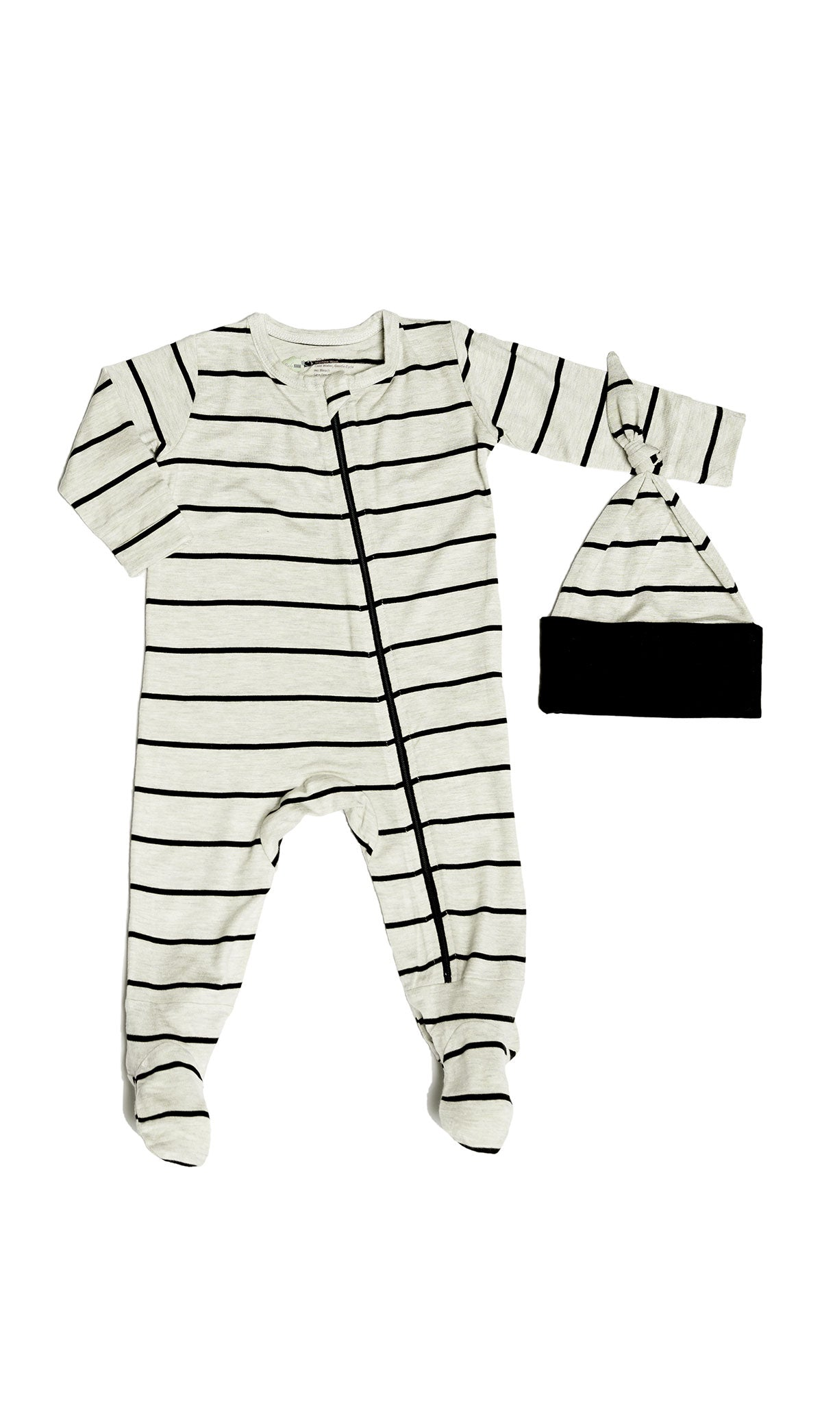 Footie 2 Piece  - Sand Stripe