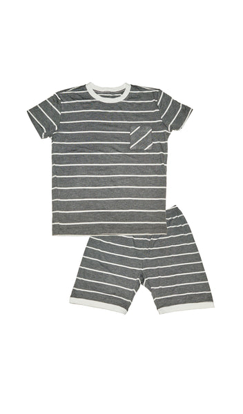 Aydenne Kids 2 Piece Short PJ  - Charcoal