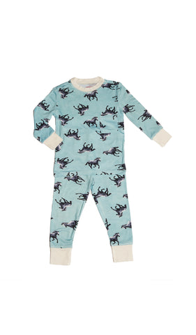 Emerson Kids 2 Piece Pant PJ  - Horse