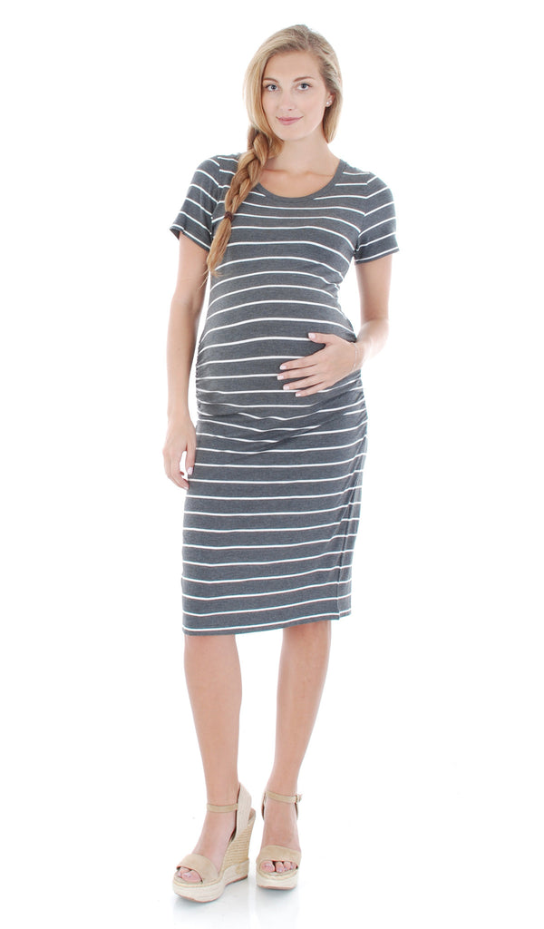 Camila Charcoal Stripe - Final Sale