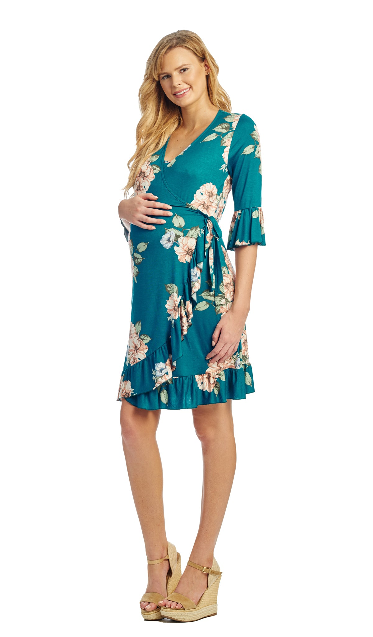 Leilani Teal Floral - Final Sale