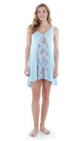 Dawn Chemise/Robe Azure Mist - Final Sale
