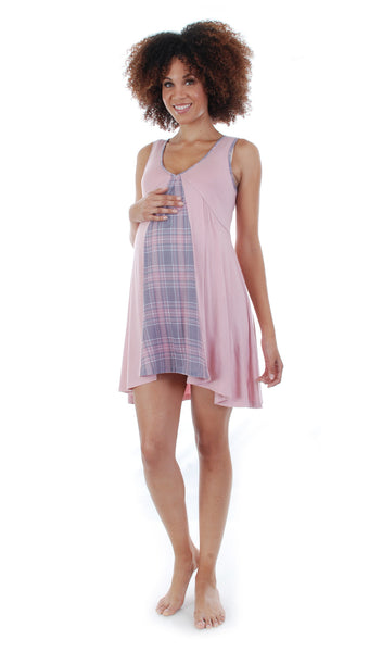 Dawn 4-Piece Pink Plaid