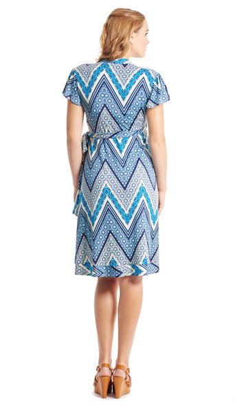 Kathy Blue Chevron - Final Sale