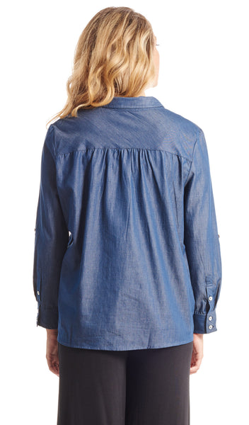 Batina Shirt Indigo - Final Sale