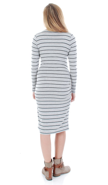 Hanh Grey Stripe - Final Sale