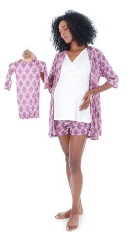 Daphne 5-Piece PJ Set India Floral - Final Sale