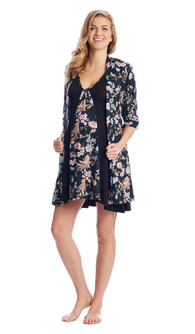 Dawn 4-Piece Black Floral -  Final Sale