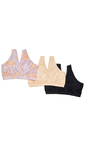 Paisley 3-Pack Sleep Bras Boho