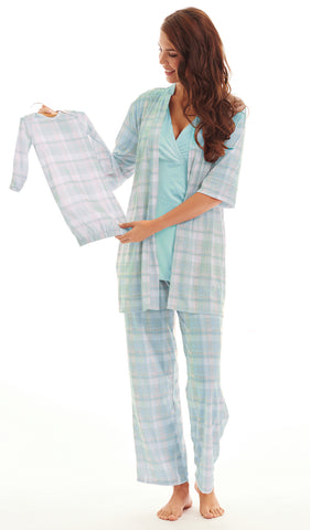 Analise 5-Piece Blue Plaid