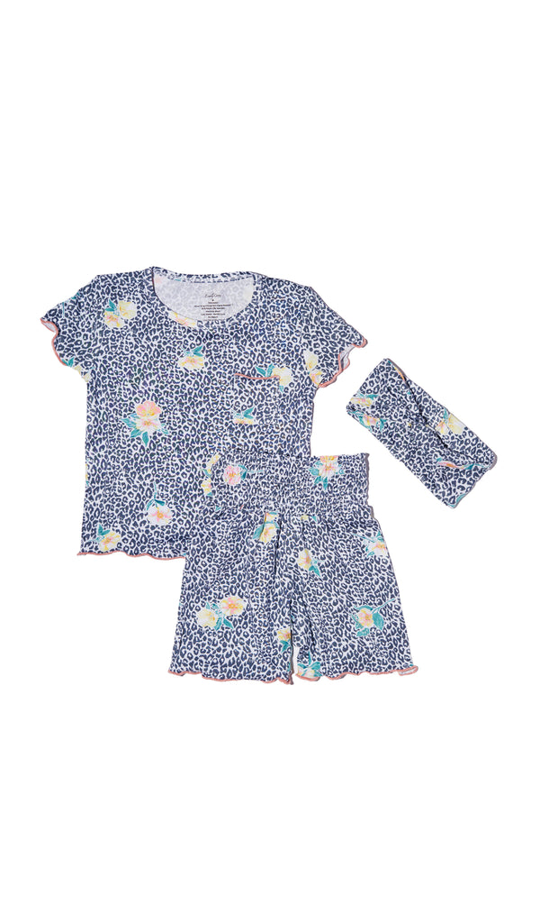 Bella Kids 3 Piece Short PJ - Jungle Floral