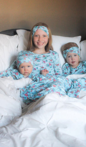 Charlie Kids 3 Piece Pant PJ Azure Mist Teal- Final Sale