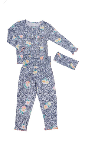 Charlie Kids 3 Piece Pant PJ - Jungle Floral