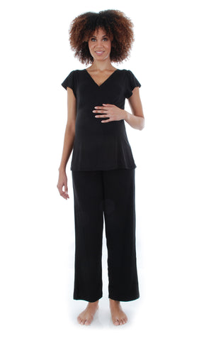 Serena 2 Piece PJ Set - Black