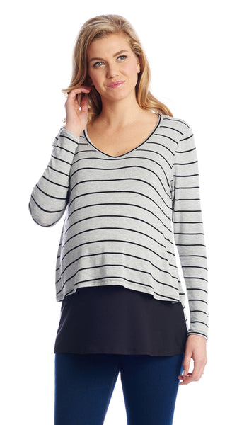 Payton Heather Grey Stripe