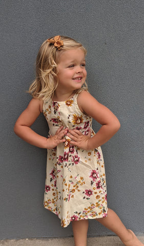 Catalina Kids Dress - Vintage Floral