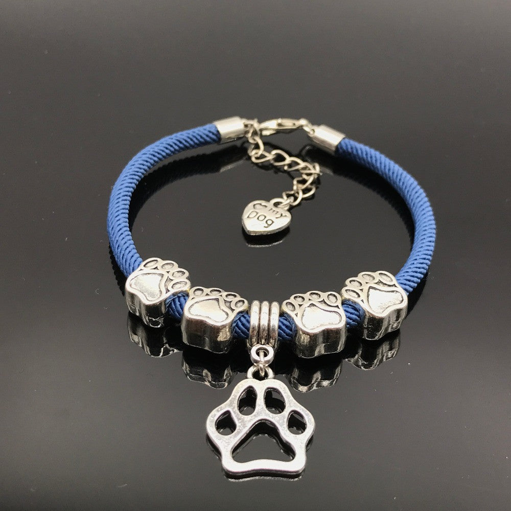 89743d0dd bracelet charms love images Love my dog rope paw charm bracelet with 2 free  extra changeable