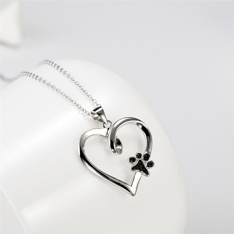 Limited edition pure sterling silver heart paw pendant necklace limited edition pure sterling silver heart paw pendant necklace aloadofball Gallery