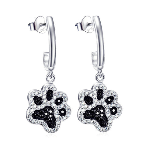 Limited Edition Pure Sterling Silver Dog Paw Earrings