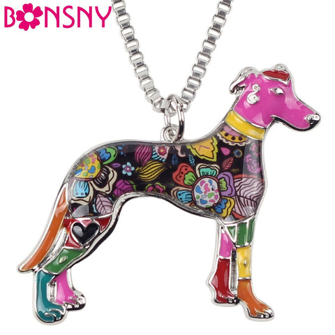 Greyhound Dog Necklace Pendant