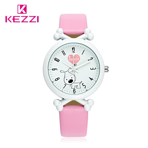 Kids Leather Cartoon Dog Watch - Waterproof
