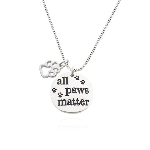 All Paws Matter Pendant Necklace