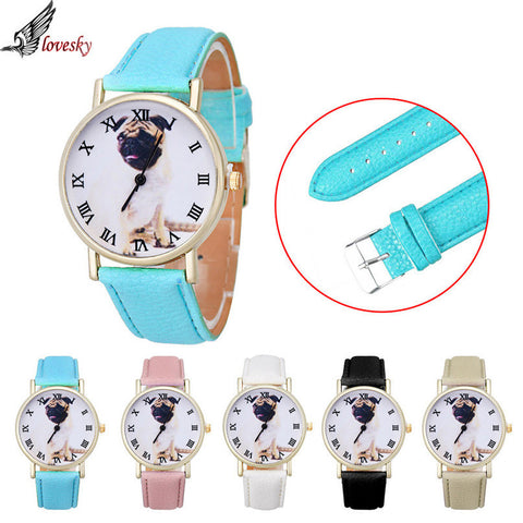 Leather Dog Vogue Wrist Watch - 5 Colors