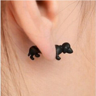 3D Dachshund Earrings