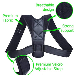 YOSYO Brace Support Belt Adjustable Back Posture Corrector Clavicle Spine Back Shoulder Lumbar Posture Correction - Stay Beautiful