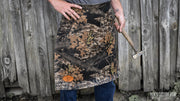 Camouflage Leather Blacksmith Apron, Apparel- Ken's Custom Iron Store, www.KensIron.com