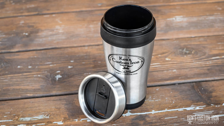 "Insulated ""Ken's Custom Iron"" Travel Mug, Apparel- Ken's Custom Iron Store, www.KensIron.com"