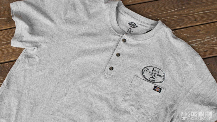 "Apparel - ""Ken's Custom Iron"" Henley Heavyweight T-Shirt"