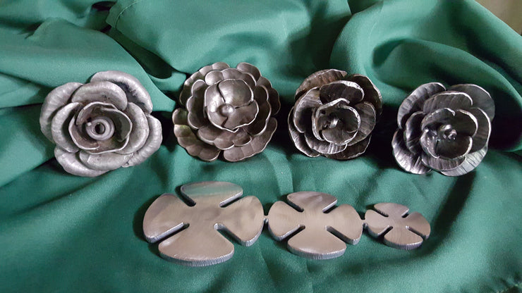 Flower and Leaf Bundle, Blacksmithing- Ken's Custom Iron Store, www.KensIron.com