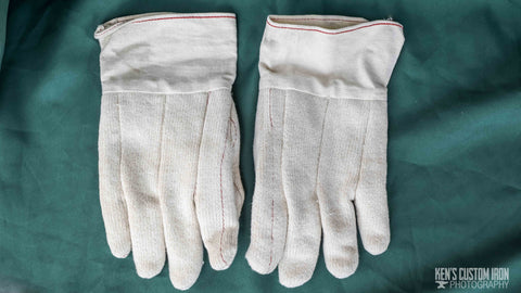 Protex Hot Mill Quilted Cotton-Terry Gloves, Blacksmithing- Ken's Custom Iron Store, www.KensIron.com