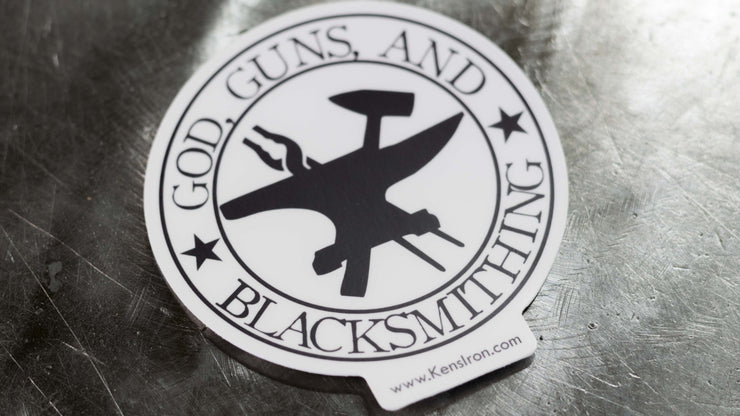 "Decals - ""God, Guns, And Blacksmithing"" Vinyl Decal - FREE SHIPPING"