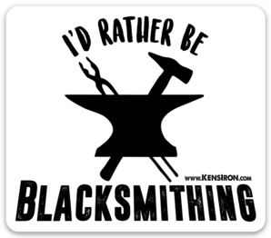 "Decals - ""I'd Rather Be Blacksmithing"" Vinyl Decal - FREE SHIPPING"