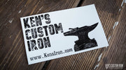 """Ken's Custom Iron"" Vinyl Decal - FREE SHIPPING, Decals- Ken's Custom Iron Store, www.KensIron.com"