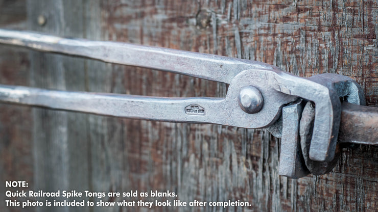 Quick Tongs - Railroad Spike Knife Project Bundle