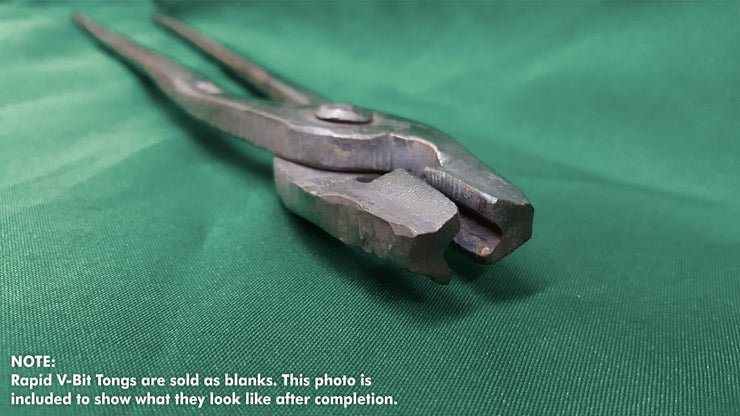 Rapid V-Bit Tongs, Quick Tongs- Ken's Custom Iron Store, www.KensIron.com