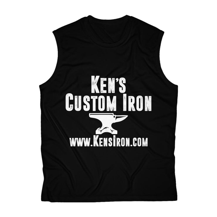 "Tank Top - ""Ken's Custom Iron"" Men's Sleeveless Performance Tee"