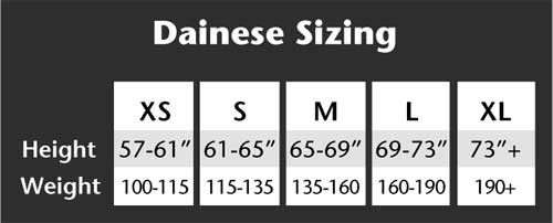 Dainese Size Chart