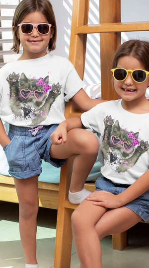 Camiseta Fashion Kid Gatica