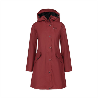 Rain Coat - Womens - Burgundy