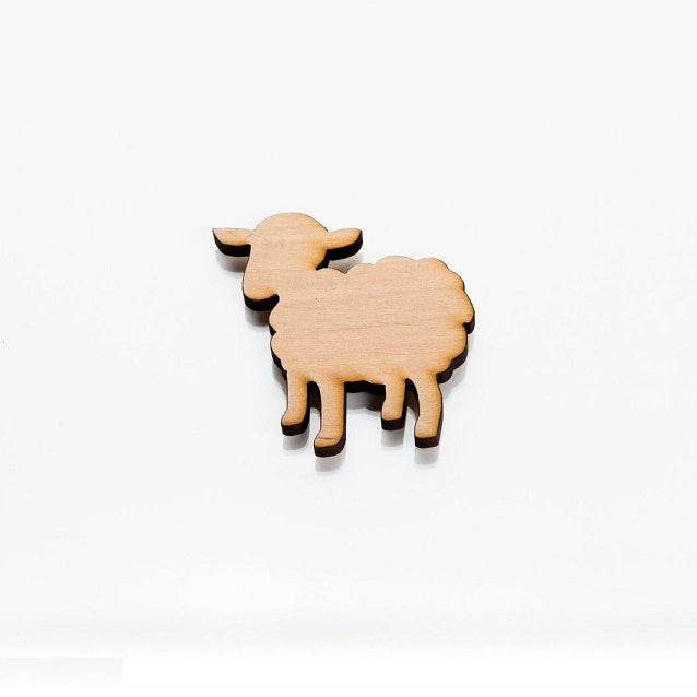 Wooden Fridge Magnet - Sheep