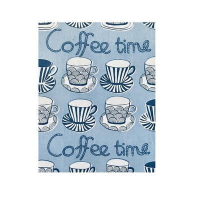 Blue Coffee Cups - Linen and Cotton Tea Towel