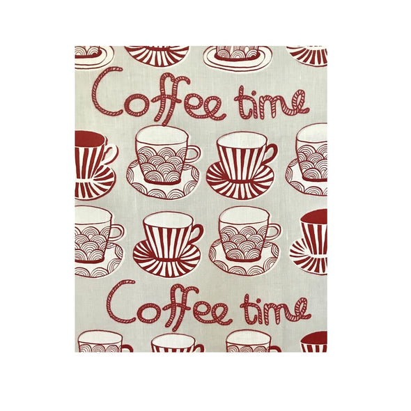 Red Coffee Cups - Linen and Cotton Tea Towel