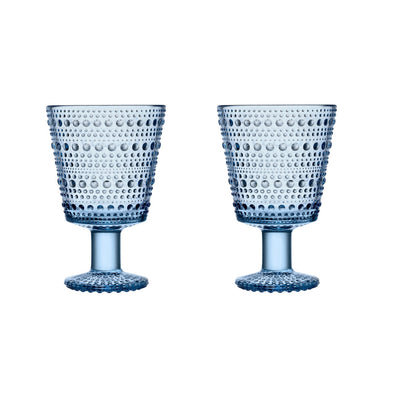 2 Pack | Kastehelmi by Oiva Toikka Glasses 8.8oz | 26cl - Aqua