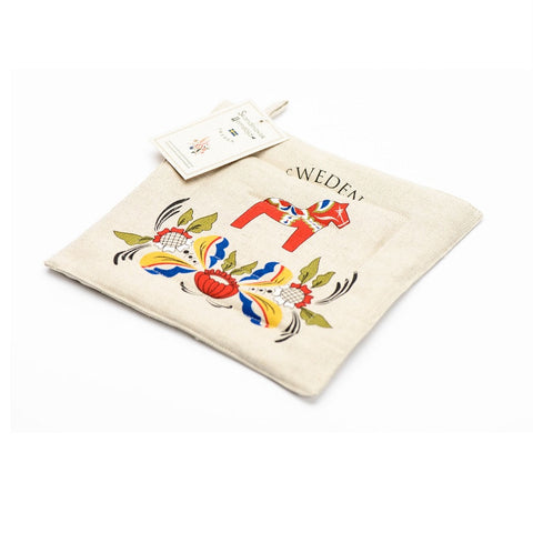 Padded Trivet / Pot Holder - Dala Horse Kurbits