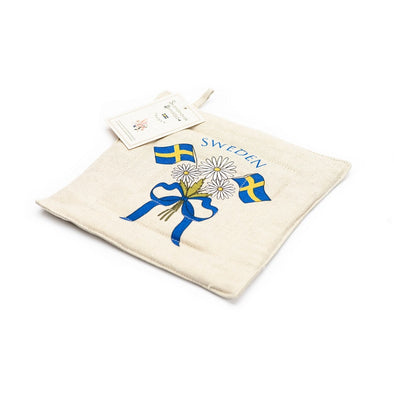 Swedish Flags Padded Trivet / Pot Holder
