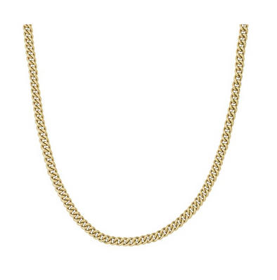 Lourdes Chain Necklace Gold